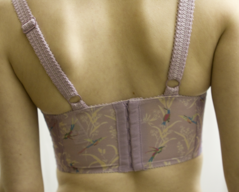 Back view, tightest hooks immediately. Do not buy a brand new bra that ...