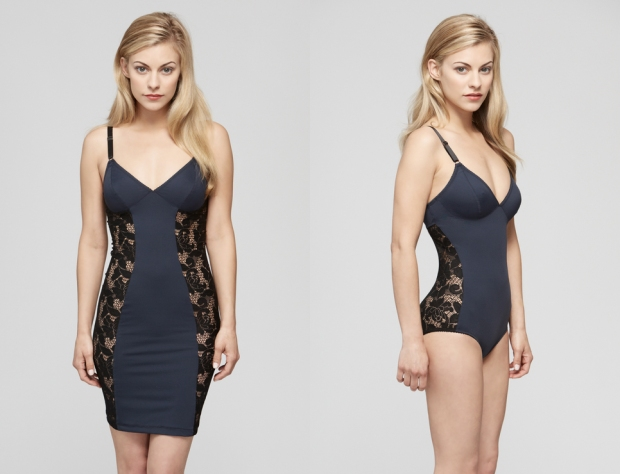 Left to right: Fortnight Mira slip and Fortnight Mira bodysuit