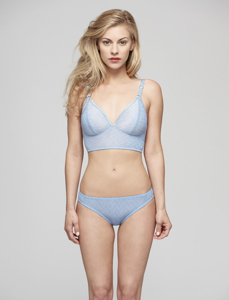 Vega Longline Bra in Sky with Bikini Knickers