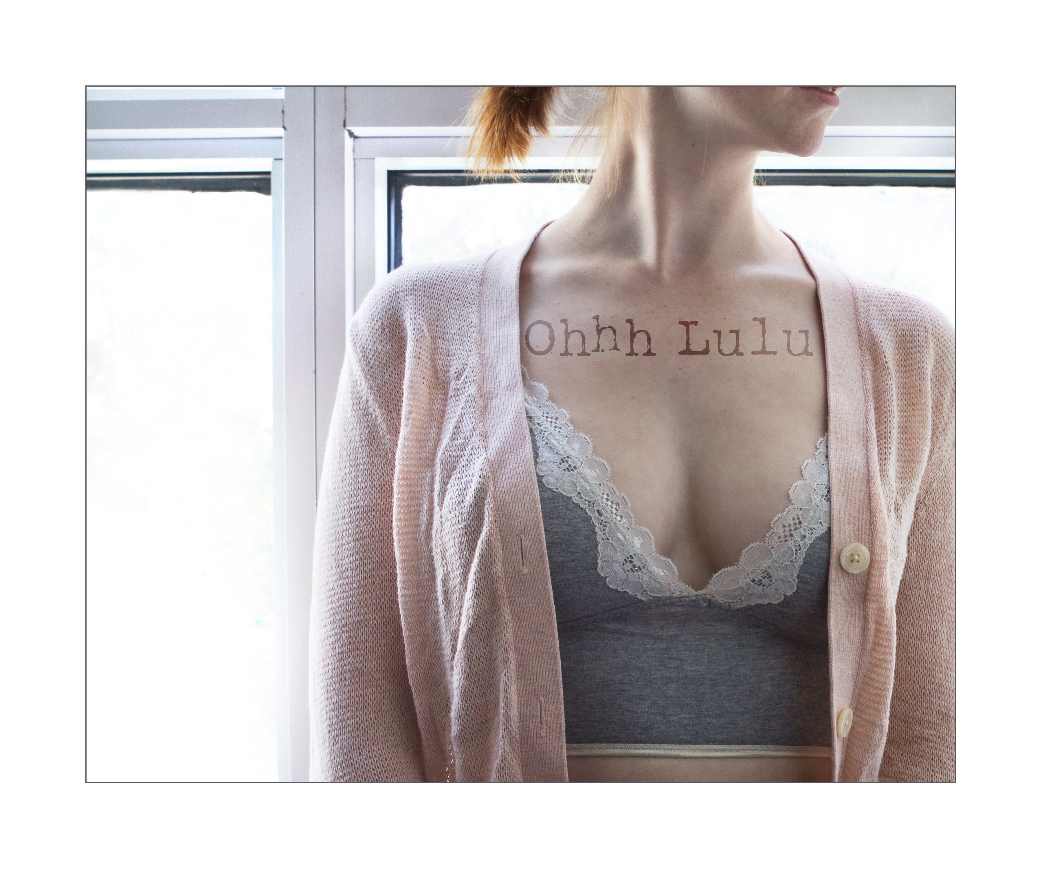 9c5c9fe7aec Ohhh Lulu Custom Bralette in Heather Grey with White Lace Detail